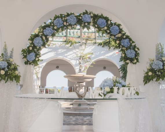 Rhodes wedding ceremonay at Kalithea Spa Wedding Venue