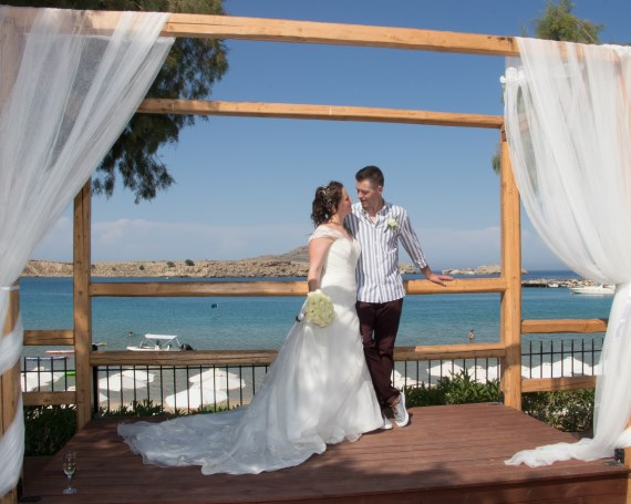 Lindos wedding at Lindos Bay ceremony venue Lindos